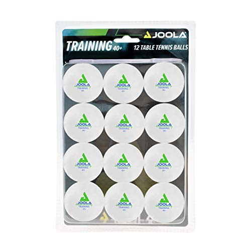JOOLA Training 3 Star Table Tennis Balls 12 Pack - 40mm Regulation Bulk Ping Pong Balls for Competition and Recreational Play - Fun as a Cat Toy - Indoor and Outdoor Compatible (Package may vary)