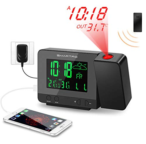 SMARTRO Digital Projection Alarm Clock...