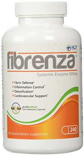 HCP Formulas Fibrenza Systemic Enzymes - 500 mg - 240 Capsules 1