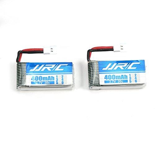 SZMH Batteria Originale Lipo 3.7V 400mAh 30C 2 Pezzi per Cool JJRC H31 Drone RC Quadcopter Accessori Batteria Drone Bianco