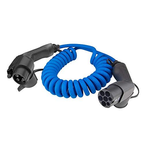 Cable de carga BESENERGY - Tipo 1 a Tipo 2 - 32 amperios (7.2kW) - 5 Metros + Bolsa de Transporte