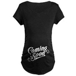 CafePress Coming Soon Maternity Dark T-Shirt Maternity Tee