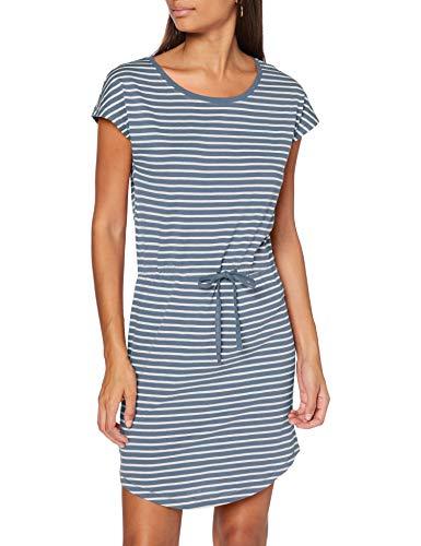 ONLY Damen ONLMAY Life S/S Dress NOOS Kleid, Stripes:Thin Stripe Cloud Dancer Blue Mirage, M