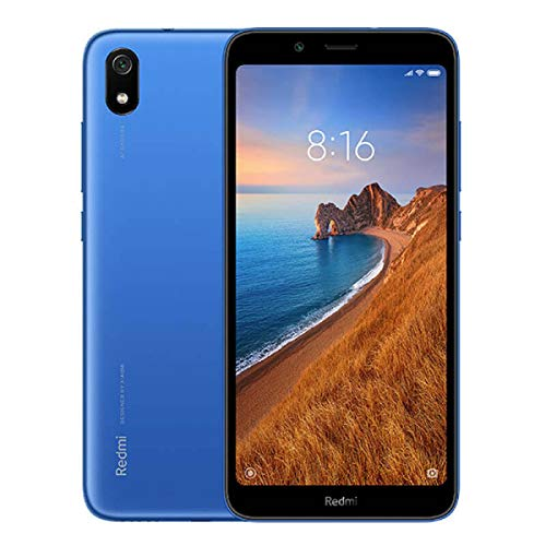 "Xiaomi Redmi 7A, Smartphone 2GB 32GB 5.45"" HD Snapdragon 439 Octa Core Mobile Phone 4000mAh 13MP Camera, Wi-Fi 802.11 b/g/n/Bluetooth 4.2, Android, Azul"