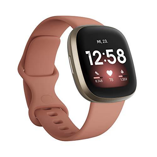 Fitbit Versa 3 - Gesundheits- & Fitness-Smartwatch mit GPS, kontinuierlicher Herzfrequenzmessung, Sprachassistent und bis zu 6+ Tage Akku