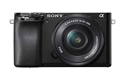 Sony Alpha A6100 Mirrorless Camera with 16-50mm Zoom Lens, Black (ILCE6100L/B)