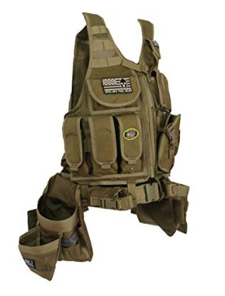 Spec Ops Tool Gear SF-18 DELTA Tactical Vest Tool Belt with Medium Pouches, Weight Dispersal Work Vest - The Medic (Coyote Tan)