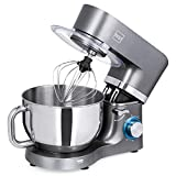 Best Choice Products 6.3qt 660W 6-Speed Multifunctional Tilt-Head Stainless Steel Kitchen Stand Mixer w/ 3 Mixing Attachments, Scraper Spatula, Splash Guard, Gray