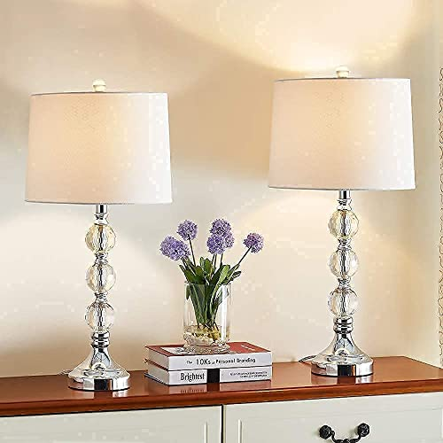 Maxax Traditional Table Lamps Set of 2, for Living Room and...