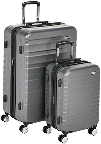 AmazonBasics - Trolley rigido premium, con rotelle pivotanti e lucchetto TSA integrato, Set da 2...