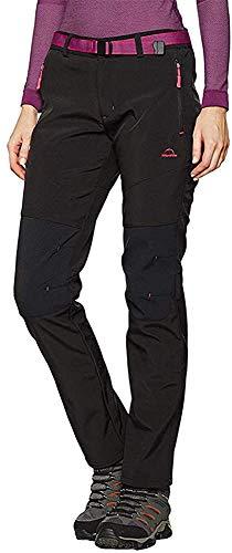 Tofern Womens Winter Softshell Pants - Fleece Warm Waterproof 10000mm