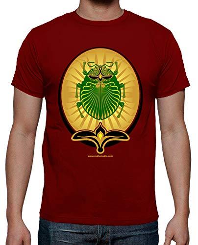 latostadora - Camiseta Escarabeo para Hombre Rojo M