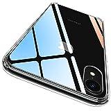 CASEKOO iPhone XR ケース クリア 薄型 指紋防止対策 耐衝撃 透明カバー 衝撃吸収 四隅滑り止……
