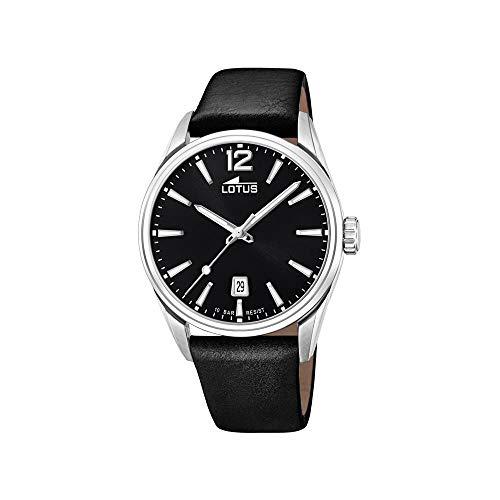 Lotus Herren Analog Quarz Uhr mit Leder Armband 18693/3