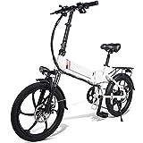 Ablita Windgoo - Bicicleta eléctrica plegable, hasta 25 km/h, velocidad ajustable, 12 pulgadas,...