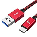 RAMPOW Câble USB C 3.0 [Garantie à Vie] Câble USB Type C à USB Nylon Tressé...