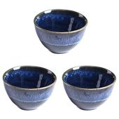 Hemoton gốm sake cốc 3 cái cốc rượu phong cách Nhật Bản cốc trà cốc cà phê màu xanh