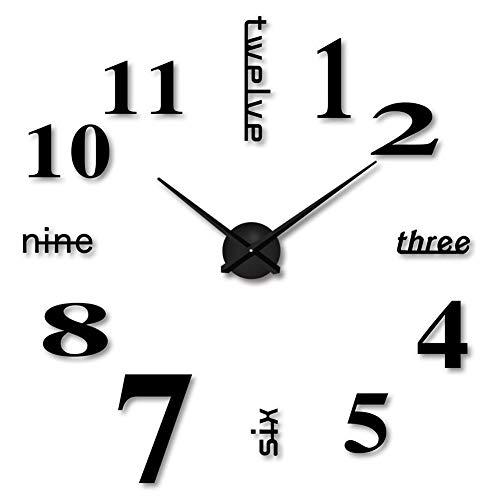 YZCX Moderno Orologio da Parete Fai da Te 3D Sticker Decorazione 70-120cm Grande Orologio Silenzioso...