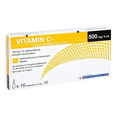 Vitamin C Rotexmedica Injektionsl�sung, 10X5 ml