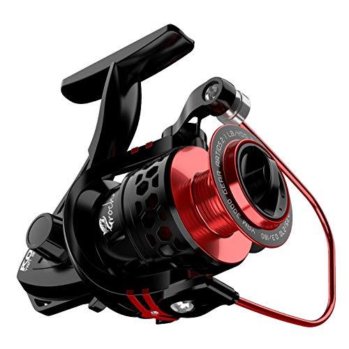 Croch Mulinello Spinning 9 + 1BB con Bobina in Alluminio CNC, mulinelli da Pesca Spinning Ultraleggeri Leggeri e potenti per Acqua Dolce