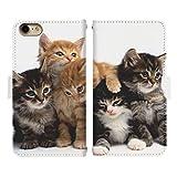 iPhone SE 第2世代 ベルト有り 手帳型 スマホケース スマホカバー di438(F) 猫 ねこ ネコ キャ……