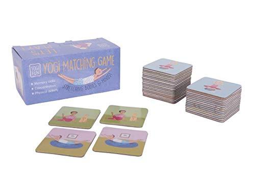 Lúdilo-Memo Yogi ninos Cartas, juguemos a Hacer Familia, Juego Yoga para niños, Color Azul YF-003