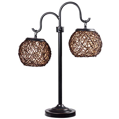 Kenroy Home 32245BRZ Castillo Table Lamps, Medium, Oil Rubbed Bronze with Highlights