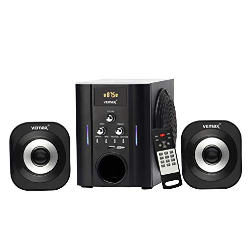 Vemax Atom 2.1 Bluetooth Multimedia Speaker System Bass & Treble Control