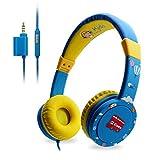 EasySMX Casque Audio Enfant avec Function de Partager Limiteur de Volume Microphone Headphone pour Enfant 3-12 Ans (Bleu)