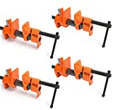Y&Y Decor 4 PACK 1/2' Wood Gluing Pipe Clamp Set Heavy Duty PRO Woodworking Cast Iron