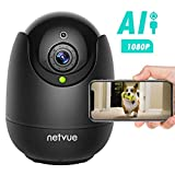 Dog Camera - Indoor Camera Wireless, 1080P Home Camera with Human Detection, Night Vision IP Camera, Cloud Storage 24s Smart-Clip, 128G SD Card Support, Two Way Audio, Dog Camera Work with Alexa