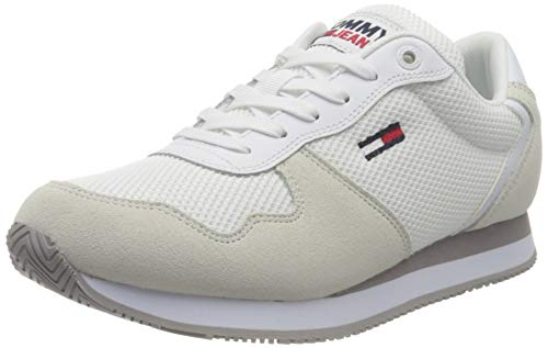 Tommy Jeans Mono Sneaker, Zapatillas Mujer, White, 39