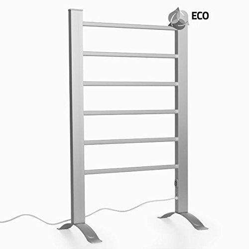 InnovaGoods - Sèche-Serviettes électrique, à Fixer au Mur ou à Poser, en Aluminium, 55x 91x 35cm - Gris