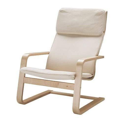 IKEA Sessel Pello für Wohnzimmer, Relaxsessel, Farbe: Holmby Ecru, Breite: 67 cm, Tiefe: 85 cm, Höhe: 96 cm