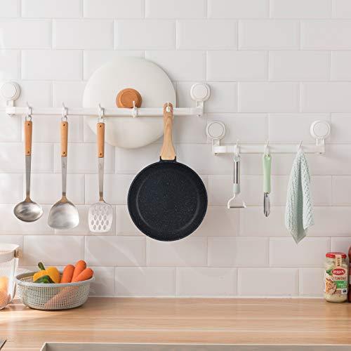 Product Image 5: MOBUTA 3-PCS Nonstick Frying Pan Set Induction Skillet Omelet Pan Egg Pan, PFOA-FREE with Granite Coating, 8+10+11 Inch