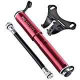 Pro Bike Tool Mini Road Bike Pump for Mountain and BMX Bicycle Tires , 7.3-Inches , Red