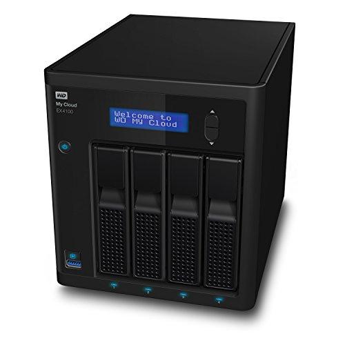 WD My Cloud EX4100 Expert Series, Almacenamiento en Red NAS sin Discos, 4 Compartimentos, Negro