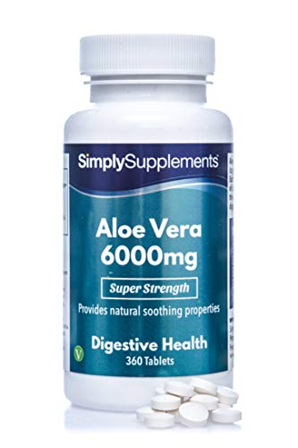 Aloe Vera 6000 mg - 360 Compresse - Adatto ai vegani - 6 mesi di trattamento - SimplySupplements