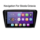 REAMIC Android 8.1 Car Navigation Dashboard System Es Compatible con Bluetooth Dab + CD DVD WiFi Android Car USB para Skoda Octavia 2015-2019