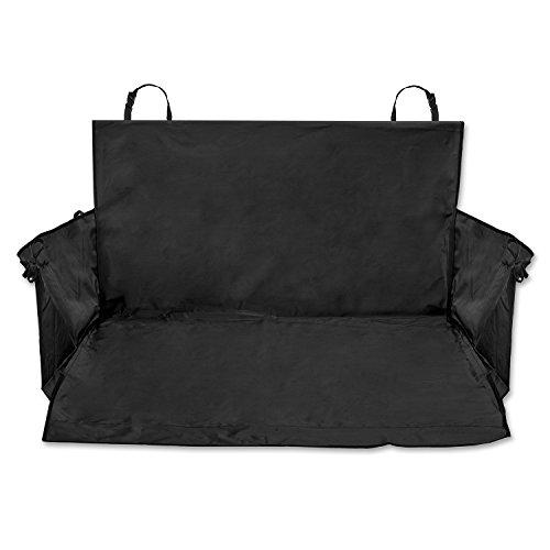 PRETEX Universal-Kofferraumdecke mit Seitenschutz, schwarz - Auto-Schondecke, Kofferraum-Schutzdecke für Hunde