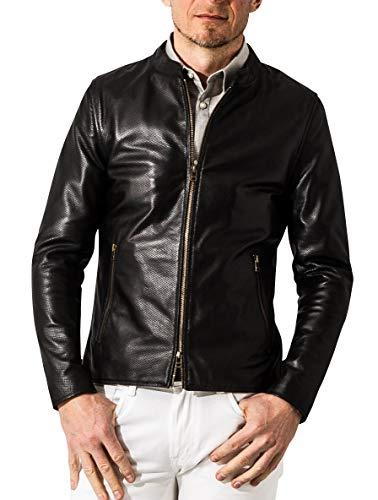 (リューグー) Liugoo ライダースジャケット メッシュレザー シングルライダースジャケット LLサイズ ブラック SRS09B