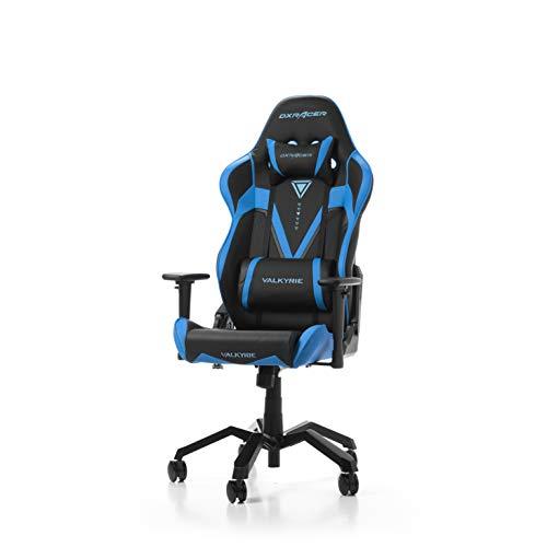 DXRacer (l'original) Valkyrie V03 Chaise Gaming, Similicuir, Noir & Bleu, 165-195 cm