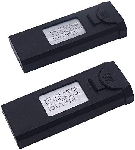 YUNIQUE ITALIA- 2 Pezzi Batteria 3.7V 900mAh Lipo per VISUO XS809W XS809HW X809 XS809C FPV RC Drone-Pieghevole, 4B-MO00-297K