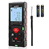 atolla Laser Measure Device, Laser Distance Meter up to 60m / ± 2mm Digital Measure Tool Range Finder with Bubble Level and Large LCD Backlit and Waterproof IP54