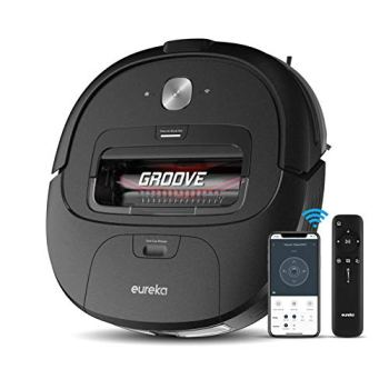 Eureka Groove Robot Vacuum Cleaner, Wi-Fi Connected, App, Alexa & Remote Controls, Self-Charging, NER300