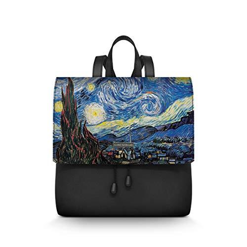 Alviero Rodriguez Donna Zainetto LuxNotte Stellata Arte Quadro Notte Stelle Cielo Van Gogh in...