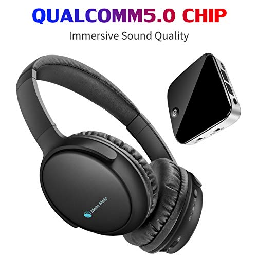 TV Headphones, BKM100 Wireless Headphones for TV with Bluetooth Transmitter & Receiver Set (CSR BC8670) with Optical, Plug & Play, Foldable, No Delay, Hi-Fi Stereo Digital Headset for TV/Phones/PC