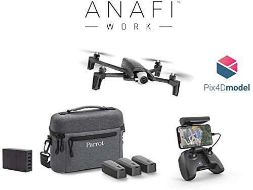 Parrot Drone 4K Anafi Work, Soluzione Completa Portatile per Professionisti, Fotocamera 4K HDR 21 MP, Orientamento a 180 e Zoom Senza Perdita di Qualit, Software di Modellazione 3D