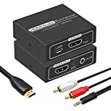 HDMI Audio Extractor,4K HDMI to HDMI with Audio 3.5mm AUX Stereo and L/R RCA Audio Out,HDMI Audio Converter Adapter Splitter Support 4K 1080P 3D Compatable for PS3 Xbox Fire Stick.