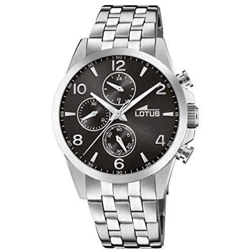 Lotus Herren Chronograph Quarz Uhr mit Edelstahl Armband 18629/4